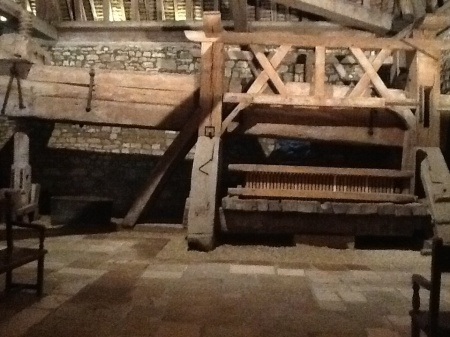 An ancient press at Vougeot - used by Cisterian monks