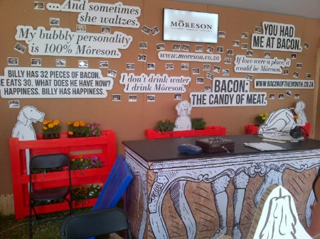 Moreson stood out with their well decorated stand.