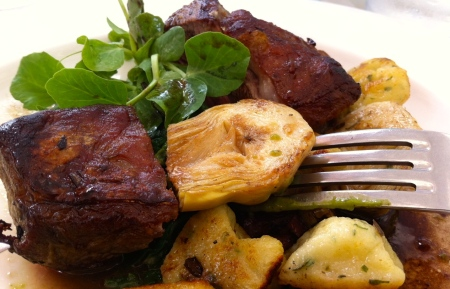 Rump of lamb with gnocchi  & artichoke