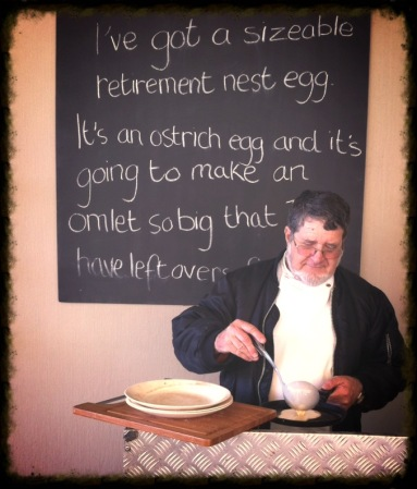 Jan knows his pancakes! #Hermanuspietersfontein
