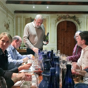 Peter Finlayson pouring another great wine at a tutored tasting
